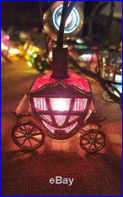 Vintage Pifco Cinderella Carriages & Lanterns Christmas Tree String Fairy Lights