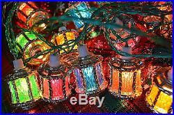 Vintage Pifco Victorian lanterns Christmas tree Lights orig box 1970s 80's