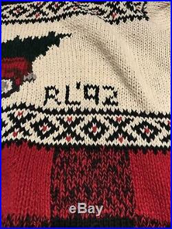 Vintage Polo Ralph Lauren Xmas Truck And Tree Hand Knot Sweater RL 92 Rare