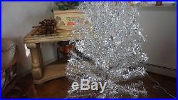 Vintage Pom Pom Aluminum 6 Ft Foot Christmas Tree The Sparkler Orig Box Look
