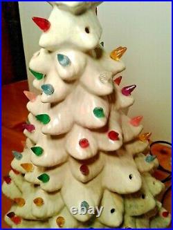 Vintage Porcelain/Ceramic Christmas Tree 19.5 Tall