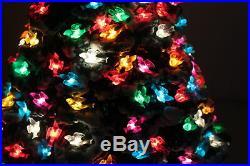 Vintage RARE Ceramic Christmas Tree Lighted Birds Flocked 20 MCM RETRO