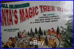 Vintage RARE Santa Magic Tree Ride All Electric The Moving Christmas Ornament