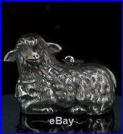 Vintage Rare RM Trush Sterling Silver Lamb Sheep Holiday Christmas Tree Ornament