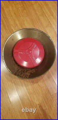 Vintage Red Tin Litho Poloron 20 Tree Stand