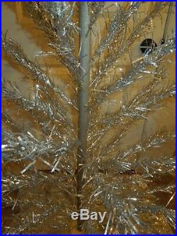 Vintage Retro Aluminium Taper Christmas Tree 5 Ft No. 552 With Skirt & Box