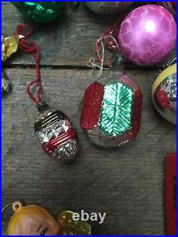 Vintage Retro Selection of Glass Christmas Baubles & Decorations Woolworths Xmas