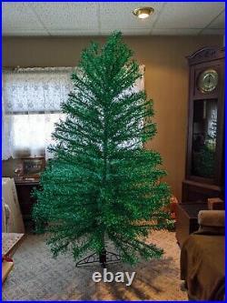 Vintage Revlis Starlite Green Stainless 7' Xmas Christmas Tree