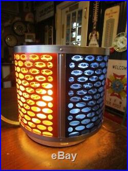 Vintage Revolving Color Aluminum Christmas Tree Motion Light in Box