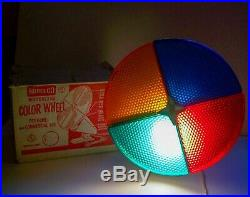 Vintage Rotating Color Wheel For Norelco Silver Aluminum Christmas Tree Works