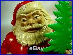 Vintage Royalite #936 Santa w Tree Lightup w Original Box from 1950s Christmas