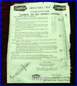 Vintage SAPPHIRE 7 ft 151 branches aluminum Christmas tree FREE SHIPPING