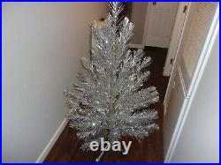 Vintage SILVER FOREST 4 1/2' Aluminum Christmas Tree, NEVER USED, withBox