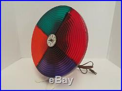 Vintage SNAPIT Motorized Color tone Wheel Aluminum Christmas Tree WORKS