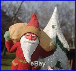 Vintage Santa Carrying Sack Figurine Christmas Tree Stunning