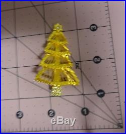 Vintage Signed Monet Christmas Tree Gold Tone Intricate Wired Pin Brooch RARE