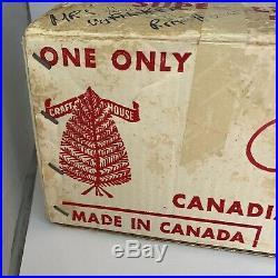 Vintage Silver Aluminum Christmas Tree 4.5 Ft Tall Pom Pom Fairyland Craft House