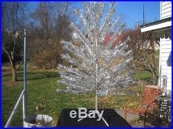 Vintage Silver Aluminum Christmas Tree 5 1/2 foot