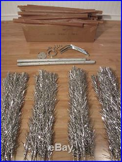 Vintage Silver Aluminum Christmas Tree 6' Ft 46 Branche Bellastra / Handy Things