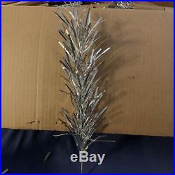 Vintage Silver Aluminum Christmas Tree. 7 Foot. Model 2017. Sapphire Regal