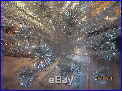 Vintage Silver Aluminum Sparkler 6 Ft 94 Branch Tinsel Christmas Tree with Box