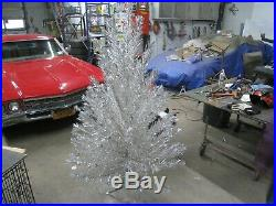 Vintage Silver Forest 6 1/2' Stainless Aluminum Christmas Tree Complete
