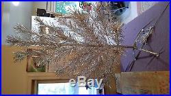 Vintage Silver Glow 4 1/2 Foot Aluminum Christmas Tree In Original Box
