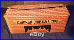 Vintage Silver Pom Pom Aluminum Christmas Tree 6 1/2' Tall 117 Branches with Box