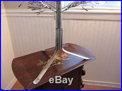 Vintage Silver Stainless Aluminum Christmas Tree 4½' Ft 33 Branches Supreme