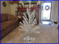 Vintage Sparkler 4 1/2' Foot Aluminum Christmas Tree with Stand & Box Star Brand