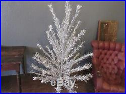 Vintage Sparkler Aluminum Pom Pom Christmas Tree 6' Foot With Color Light Lamp