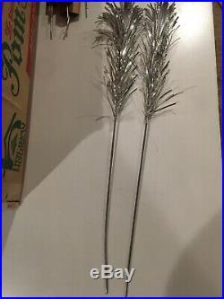 Vintage Sparkler Pom-Pom 6' Aluminum Christmas Tree 52 branches, Complete