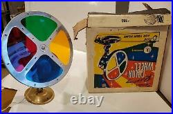 Vintage Spartus Model 880 Rotating Color Wheels For Aluminum Christmas Tree