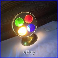 Vintage Spartus Prisma Lite Rotating Glass Color Wheel Christmas ...