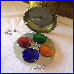 Vintage Spartus Prisma Lite Rotating Glass Color Wheel Christmas Tree Light