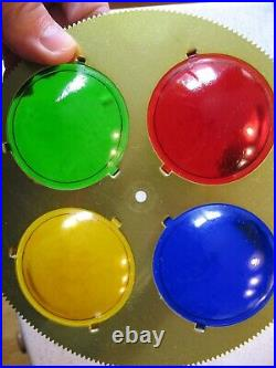 Vintage Spartus Prisma-Lite with MPC Rotating Color Wheel for Aluminum Trees