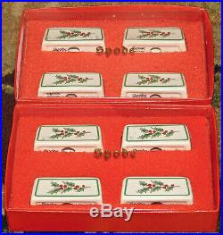 Vintage Spode CHRISTMAS TREE Place Card Holders Set of 8 New in Original boxes