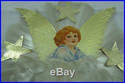 Vintage Spun Glass Gold Foil Star Angel Hair CHRISTMAS Tree Topper