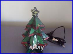 Vintage Stained Glass Christmas Tree