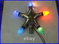 Vintage Star Of Bethlehem NOMA Christmas Tree Topper with C7 Bulbs Tested & Works