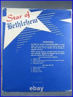 Vintage Star Of Bethlehem Plastic Christmas Tree Topper In Box Unused Oss Works
