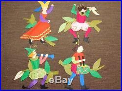 Vintage Star Plastics The Twelve Days Of Christmas Tree Ornaments Complete 12