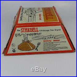 Vintage Starbell Revolving Rotating Musical Christmas Tree Stand in Box Tested