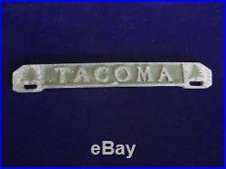 Vintage Tacoma License Plate Topper Tacoma Washington Christmas Tree Style Rare