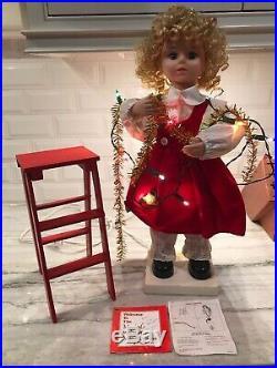 Vintage Telco Motion-nette Animated Christmas The Tree Trimmer Girl Rare
