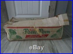 Vintage The Sparkler 6' Aluminium Pom Pom Christmas Tree 70 Branches Star Band