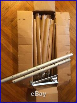Vintage The Sparkler Pom Pom Aluminum Christmas Tree 6ft 60 Branches Box Sleeves