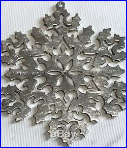 Vintage Tiffany & Co. Sterling Silver Christmas Tree Holiday Ornament Snow Flake
