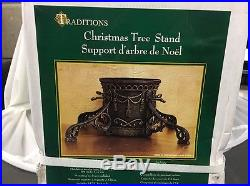 Vintage Traditions Cast Iron Christmas Tree Stand very ornate 7 trunk Capacity
