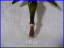 Vintage Tree Topper Mercury Glass INDENT Ornament for Feather Christmas Tree